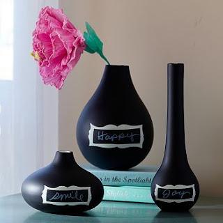 Vase Makeover: Matte Chalkboard Vases