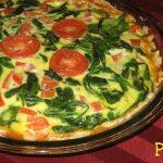Easy Peasy Spinach Tomato Quiche