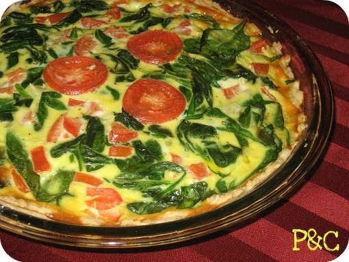 Spinach Tomato Quiche Peas And Crayons Recipes