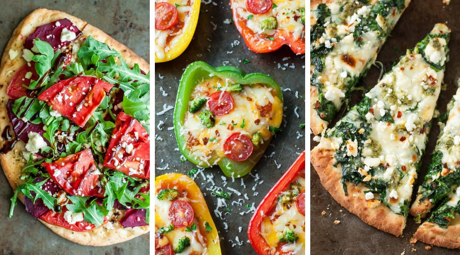 Healthy Pizza Night Photo Collage