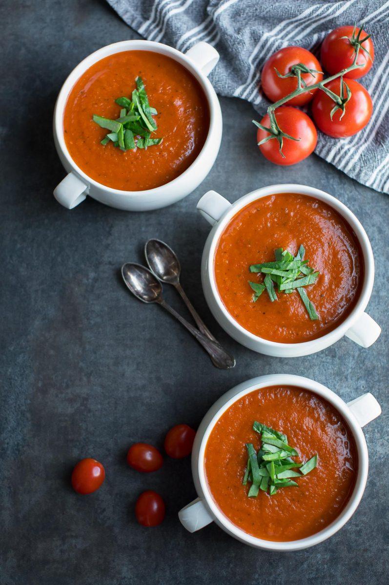 Fire-Roasted Tomato Soup Bowls Recipe