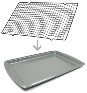 Wire Baking/Cooling Rack for Faux-Frying Crispy Baking Technique