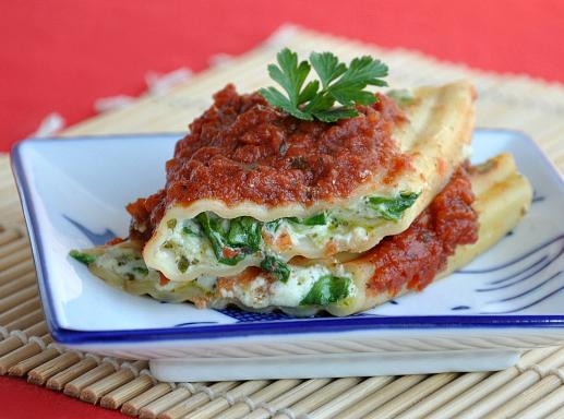 Pesto Veggie Manicotti