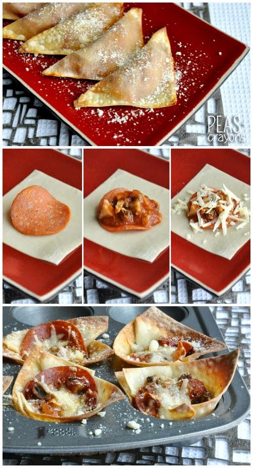 Homemade Pizza Rolls + Deep Dish Won-ton Pizza Cups