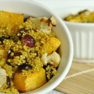 Cranberry Curry Quinoa with Roasted Butternut Squash