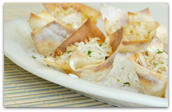 Cocont Shrimp Wontons