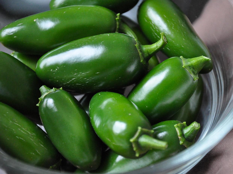 Fresh Garden Jalapeño Peppers