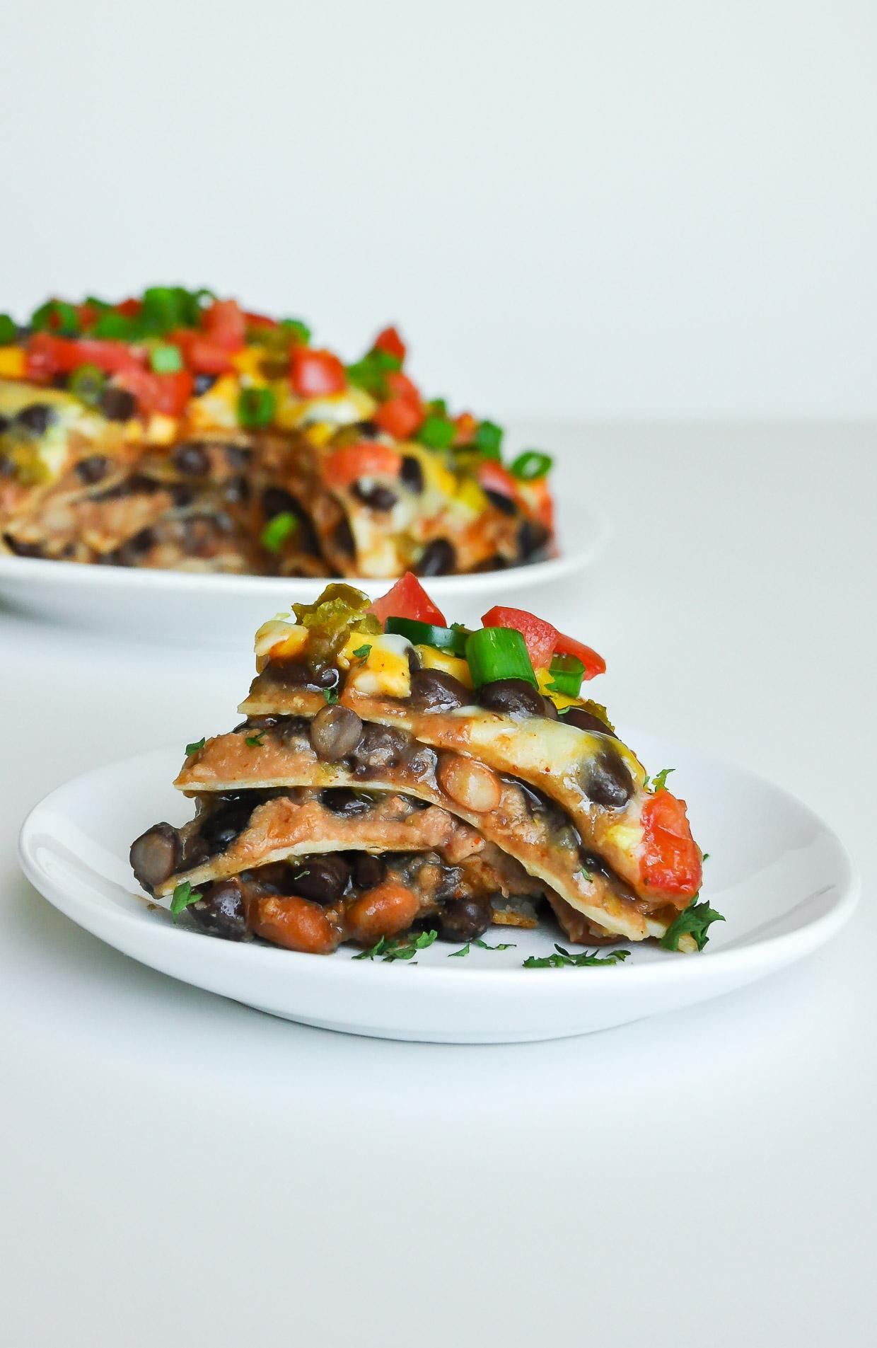 Vegetarian Mexican Pizza Lasagna