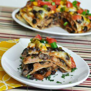 Vegetarian Mexican Pizza Lasagna Recipe