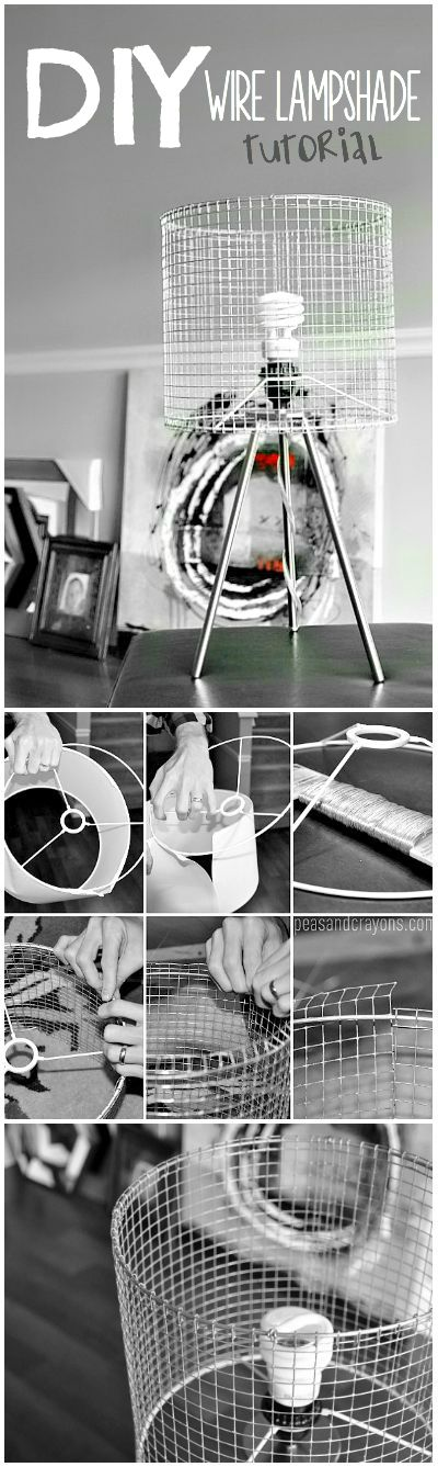 Diy wire lampshade diy industrial wire lampshade tutorial greentooth Image collections