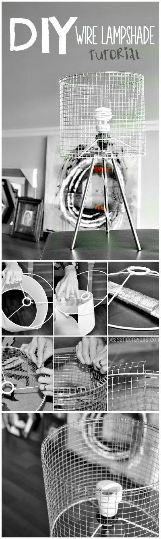 DIY Industrial Wire Lampshade Tutorial