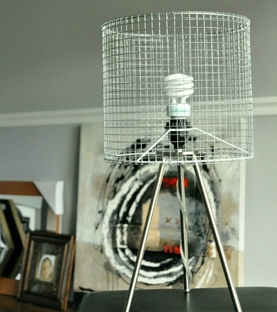 DIY Modern Wire Lampshade