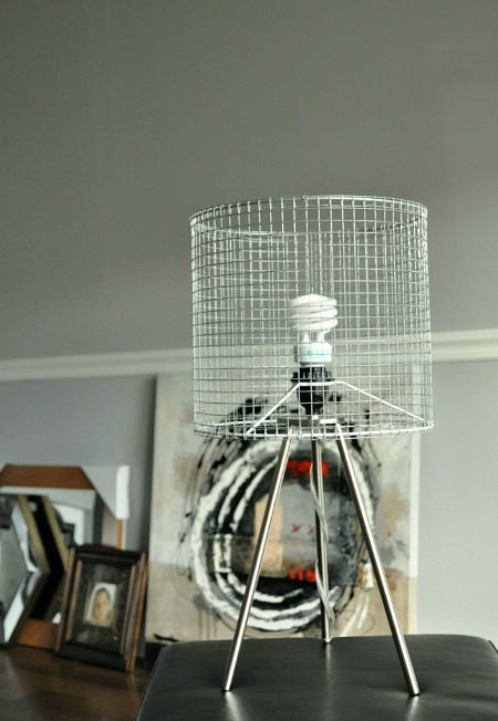 Diy wire lampshade modern industrial diy wire tripod lamp keyboard keysfo Images