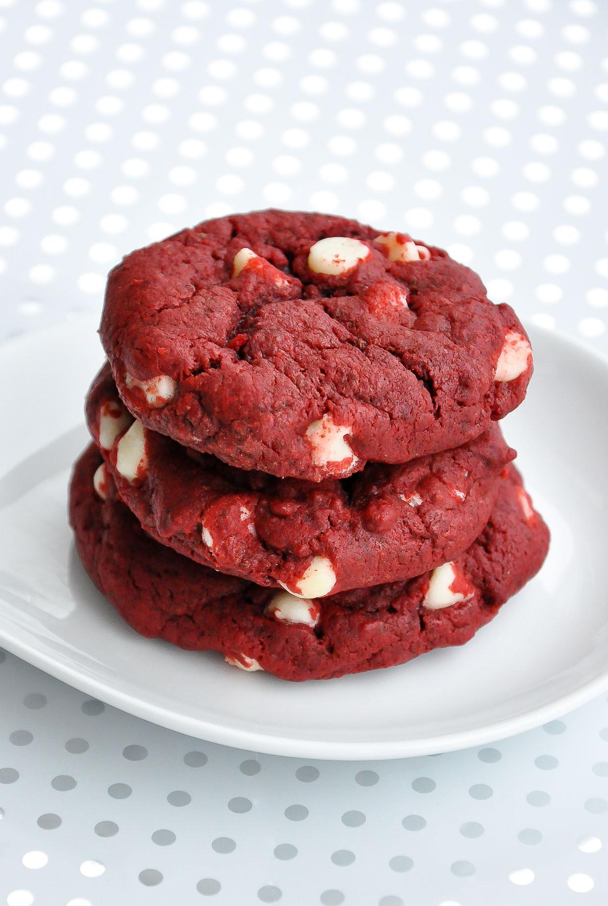 red velvet cake cookies