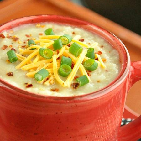 Crock Pot Veggie Loaded Baked Potato Soup Recipe