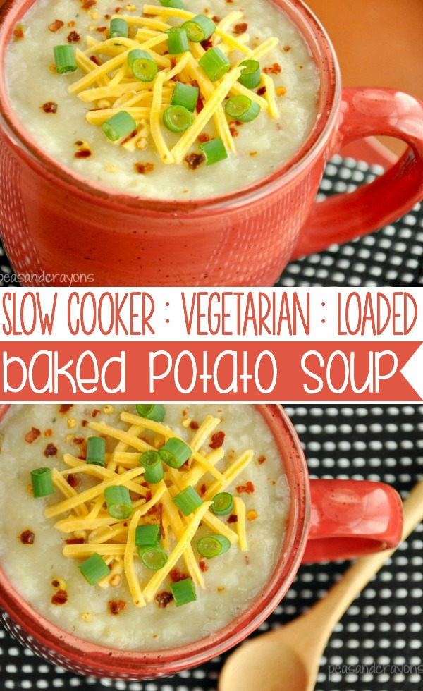 Crock Pot Veggie Loaded Baked Potato Soup Recipe