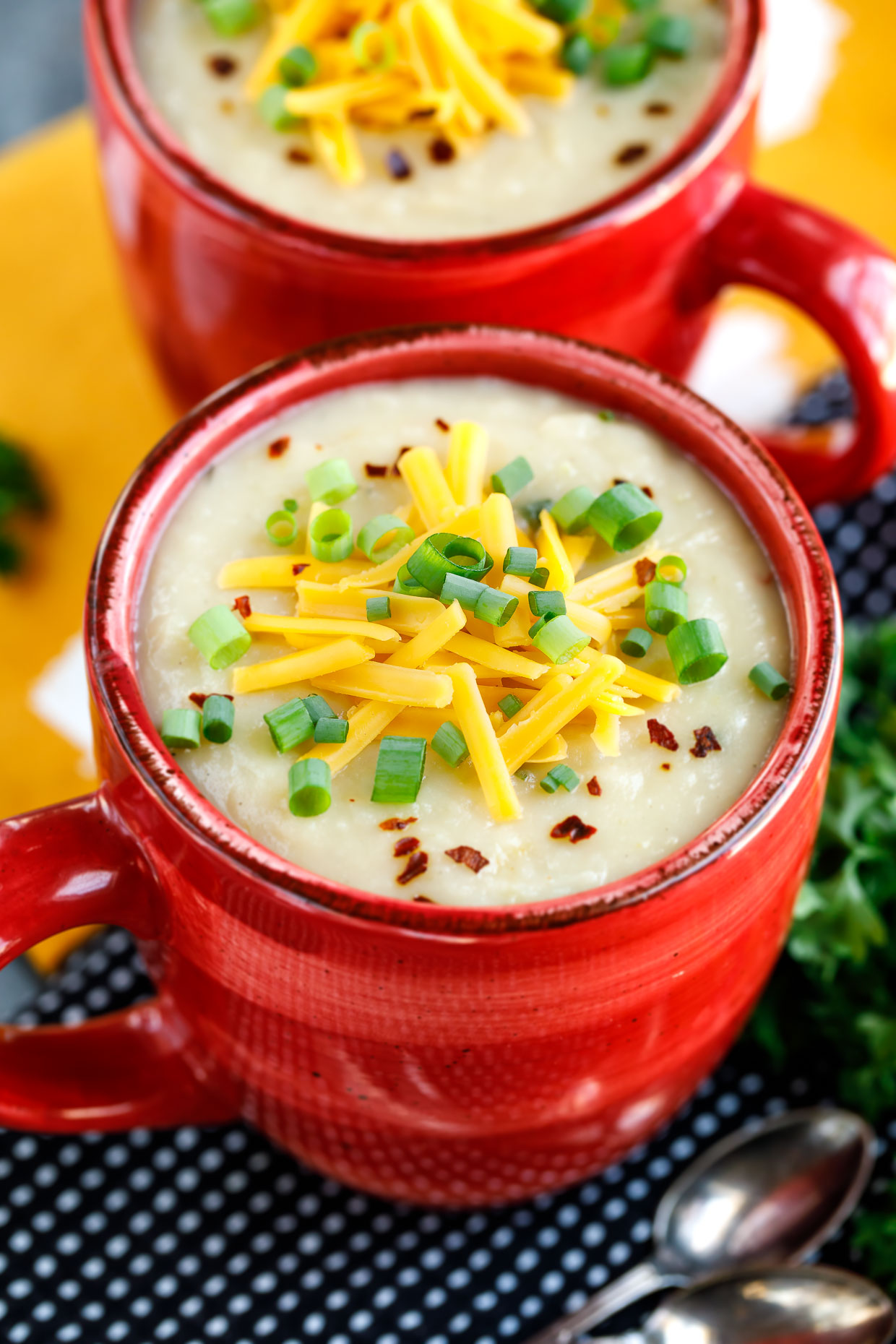 Crock-Pot Veggie Loaded Baked Potato Soup