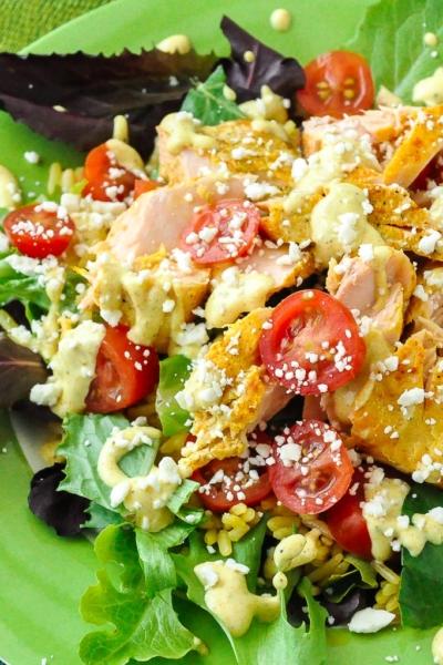 Easy Salmon Salad Rice Bowls
