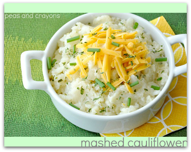 Mashed Cauliflower with Caramelized Onion and Roasted Garlic