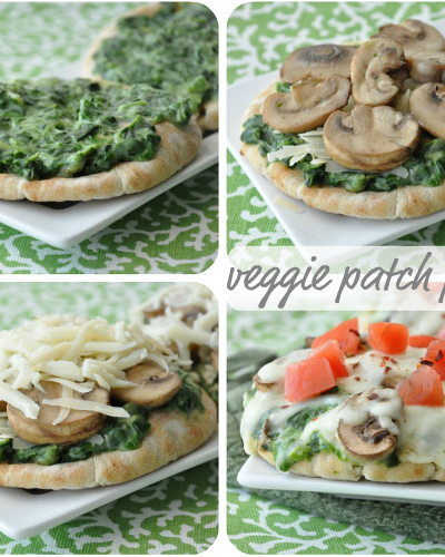 Much like their infamous Happy Hour, you're actually getting 2-for-1 with these Applebee's inspired veggie patch pizzas!