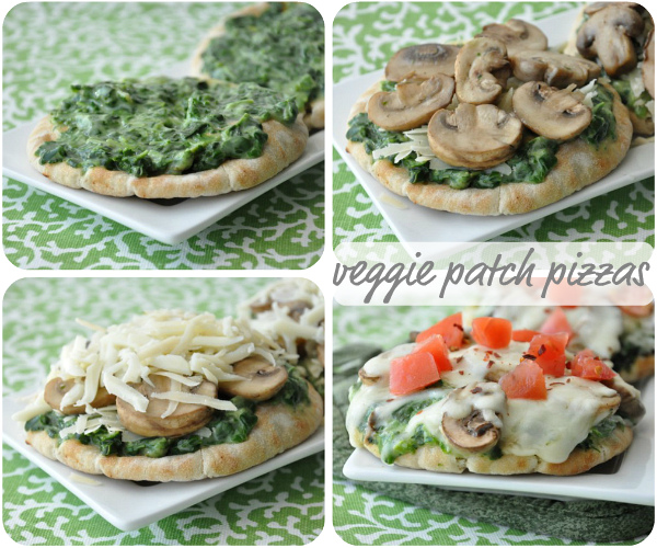 Veggie Pita Pizzas