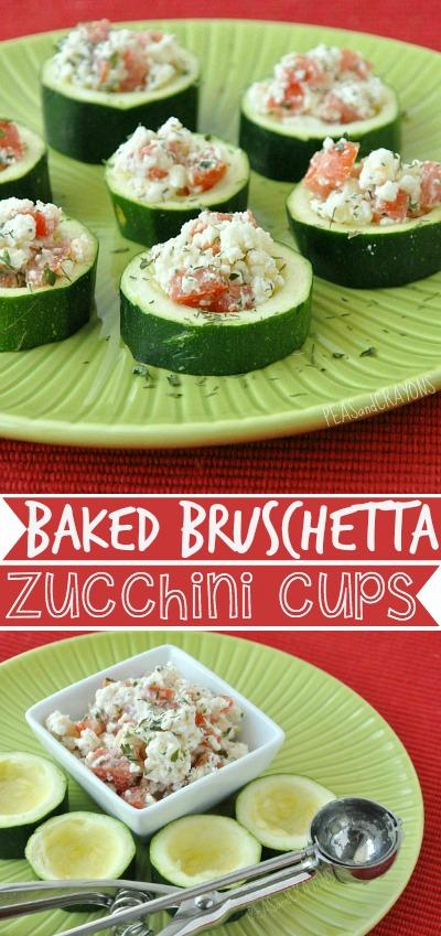 Baked Bruschetta Zucchini Cups