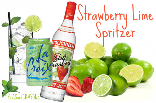 This Skinny Strawberry Lime Spritzer is light and fruity!