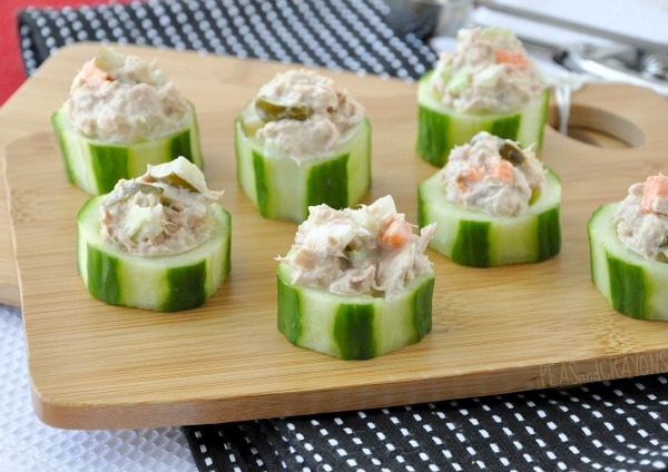 Tuna salad cucumber cups watermark