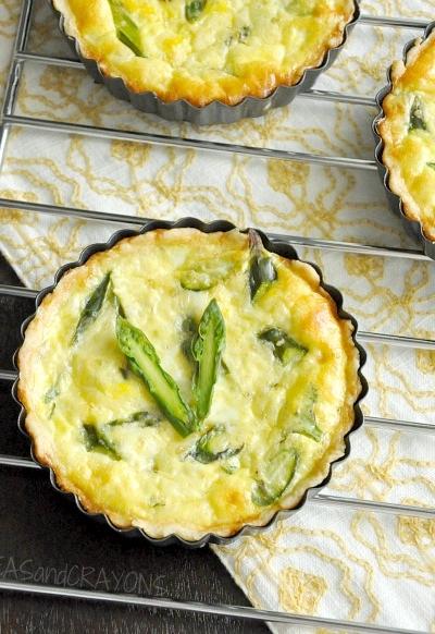 Fluffy Asparagus Quiche