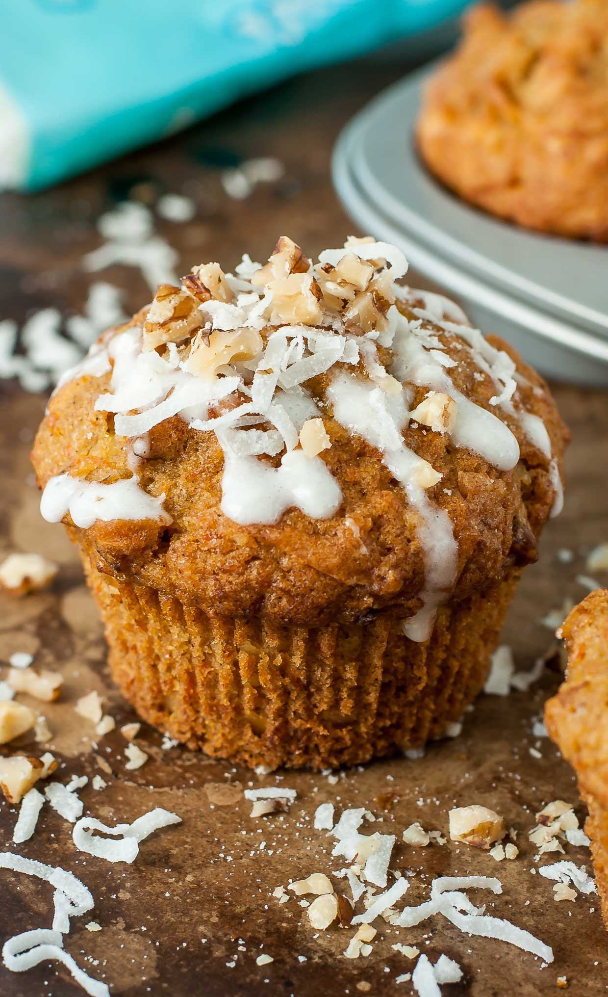 These Carrot Coconut Muffins are a tropical delight! Soft, fluffy, and so easy to whip up for all your breakfast and brunch needs.