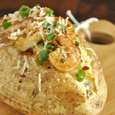 Shrimp Stuffed Potatoes: Twice-Baked Potatoes with a Twist!