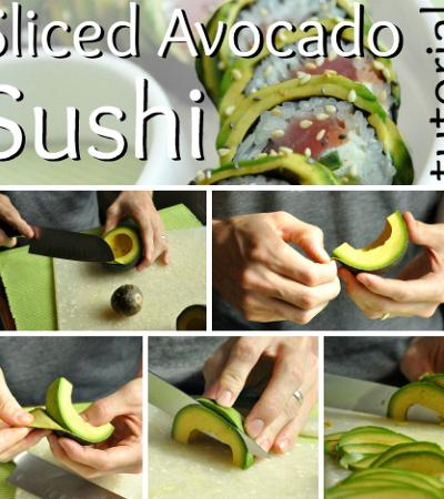 Homemade Avocado-Wrapped Sushi Tutorial