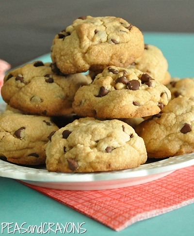 Puffy PB Chocolate Cookies
