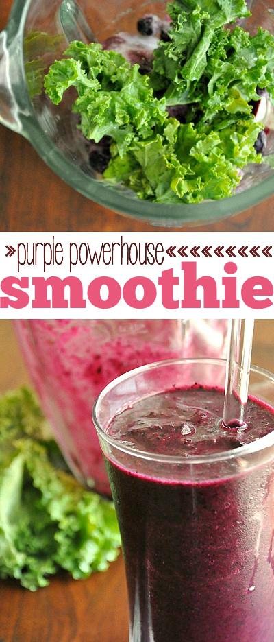 Purple Powerhouse Smoothie :: drink. yo. veggies.