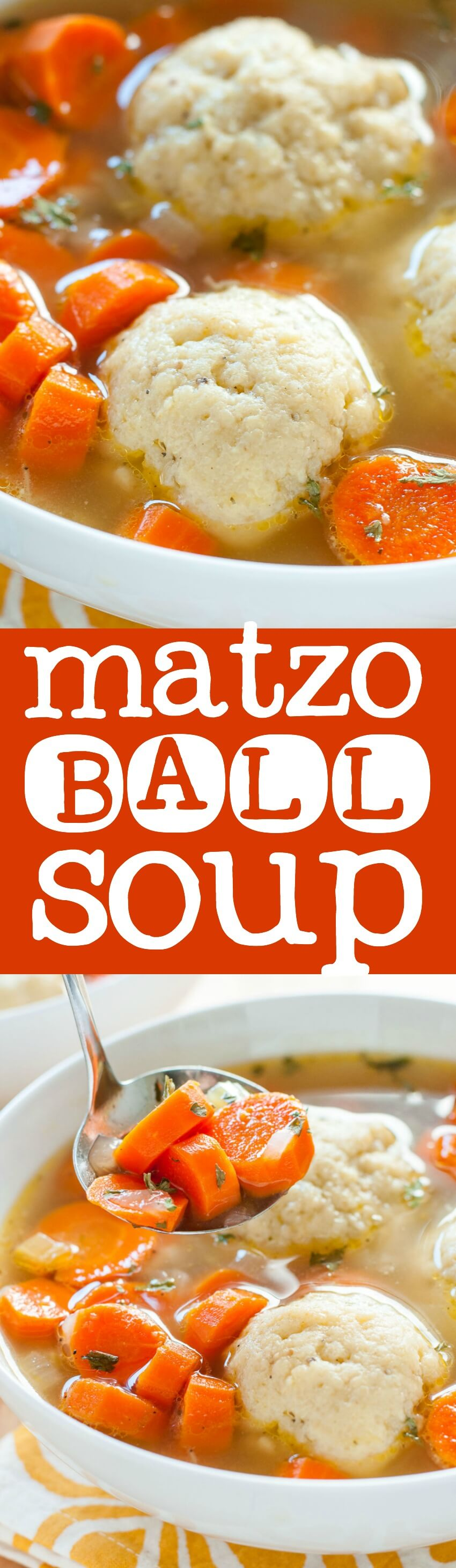 This vegetable packed matzo ball soup is a warm hug in a bowl and positively delicious! It's myall-time favorite soup to slurp when I'm feeling under the weather and a must for sweater weather!