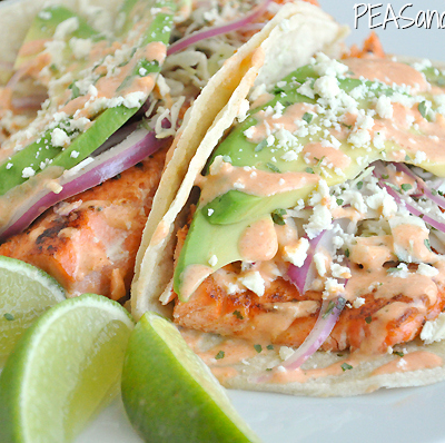 Seared Salmon Fish Tacos - THE BEST!