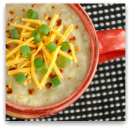 Vegetarian Loaded Baked Potato Soup