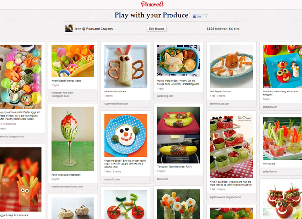 Pinterest Play with Your Produce Fun Fruit and Veggie Board