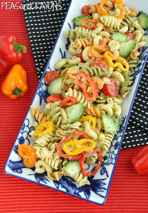Vegetarian Confetti Pasta Salad