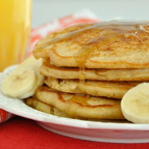 Fluffy Whole Wheat Oatmeal Pancakes