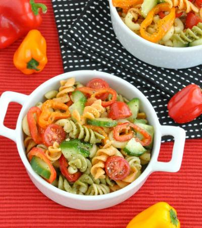 Confetti Veggie Pasta Salad