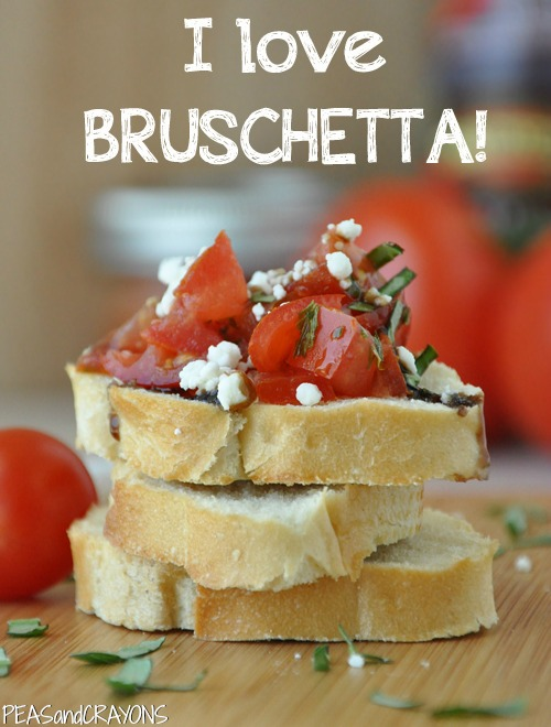 Quick + Easy Restaurant-style Bruschetta!