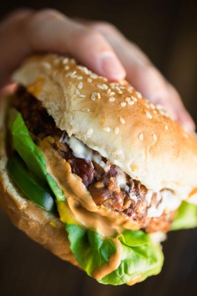 Vegetarian Chili Burger