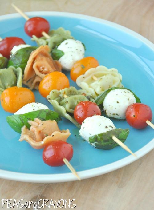 Caprese Tortellini Pasta Salad Kebabs