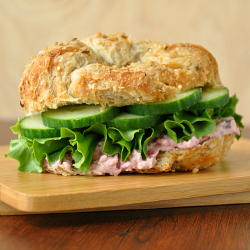 Cranberry Croissant Veggie Sandwich: the perfect use for leftover cranberry sauce!