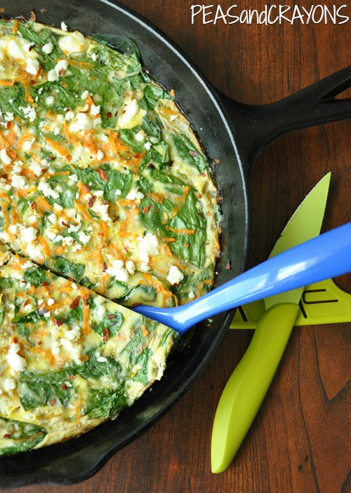 Sweet Potato Frittata with Spinach and Feta