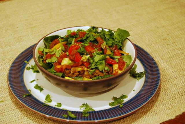Chipotle Lentil Fajita Bowls