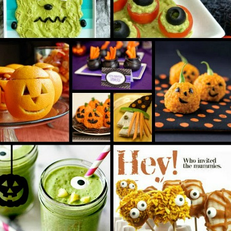 healthy halloween treats and fiesta veggie burger wraps
