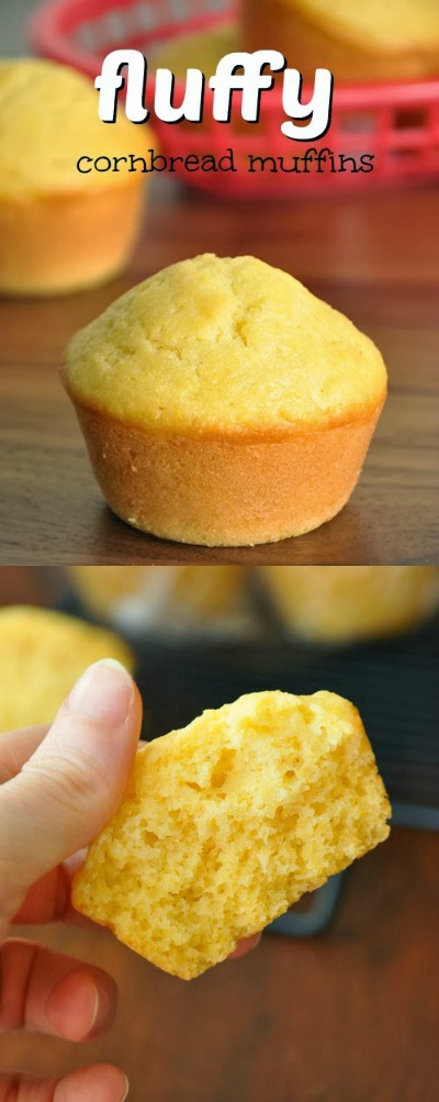 Ultra fluffy bakery-style cornbread muffins that are full of flavor. Ditch the box and make these instead!