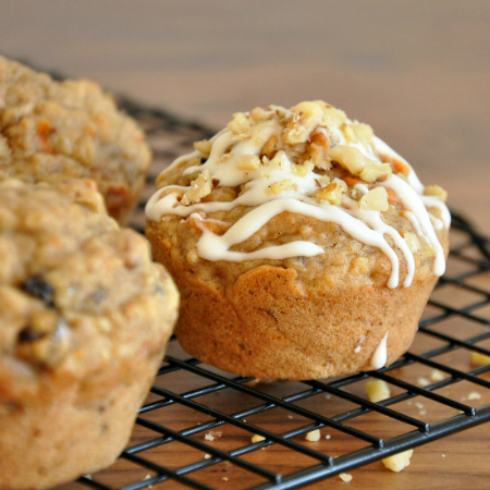 Carrot Currant Carrot Cake Muffins